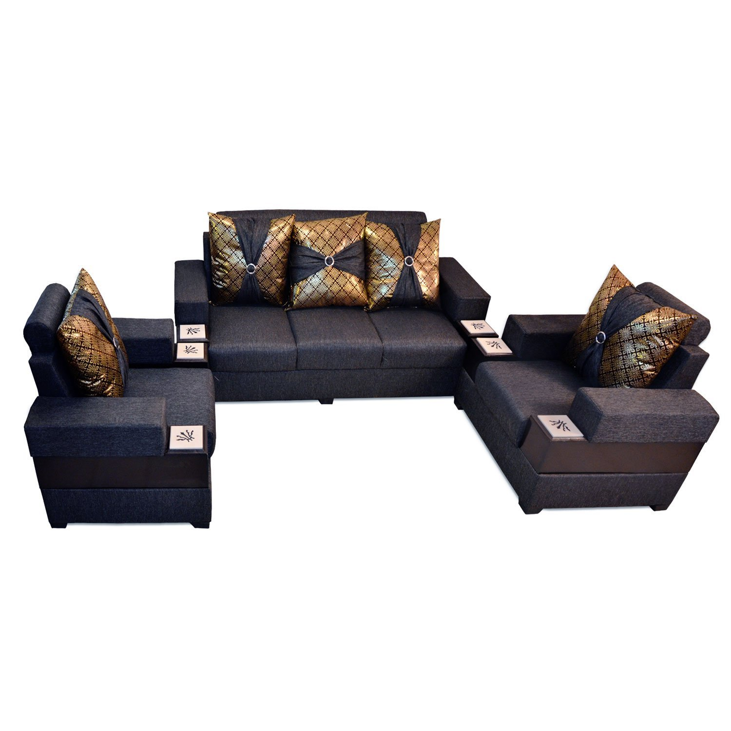 5 seater most affordable sofa set 3 1 1 sofa set dark for Most affordable furniture