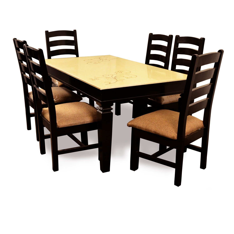 6-Seater Dining Table, Six Seater Dining Table, Stylish ...