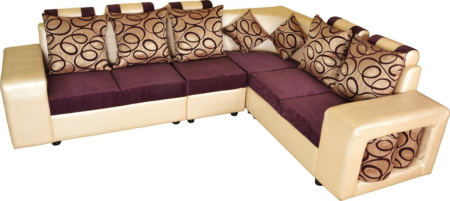6 Seater L Shaped Sofa Set For Living Room Pharneechar Online Furniture Delhi Ncr