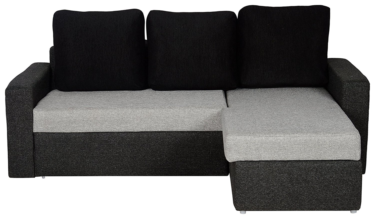 L Shaped Sofa Bed With Storage Grey And Black Pharneechar Online Furniture Delhi Ncr