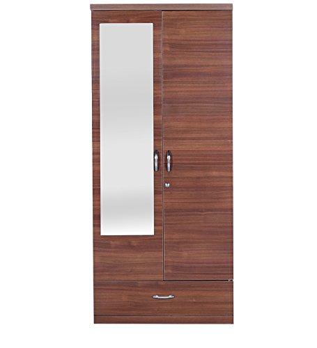 Home / Living / HomeTown Ultima 2 Door Wardrobe With Mirror (Regato Walnut)