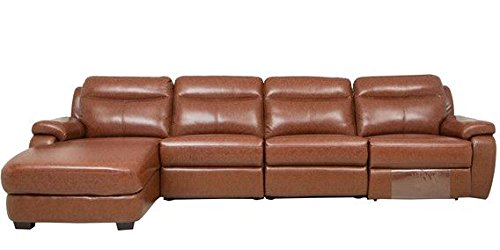 Home / Sofa / Recliners / Tychi Multi Seater Manual Recliner Sofa Set With  Chaise Lounger (Brown)